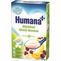 Kaszka mleczno-ryżowa z wiśniami i bananami - po 6miesiącu życia