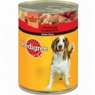 Pokarm dla psów z wołowiną w galarecie