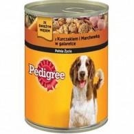 Pokarm dla psów z kurczakiem i marchewką w galaretce