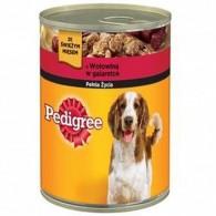 Karma dla psów z wołowiną w galaretce