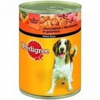 Karma dla psów z kurczakiem i marchewką w galarecie