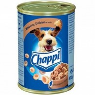 Pokarm dla psów z wołowiną i drobiem w sosie