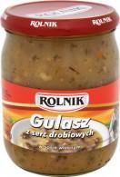 Gulasz z serc drobiowych w sosie własnym