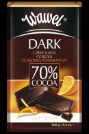 Dark czekolada gorzka 70% ze skórką pomarańczy